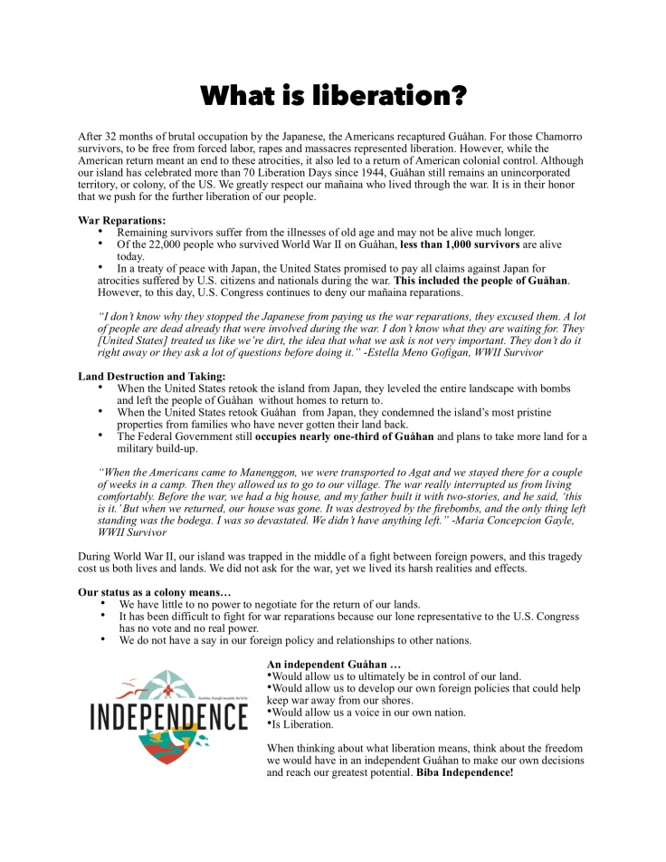 what is liberation one sheet 2016